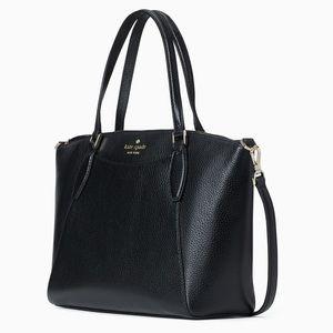 NWT Kate Spade genuine pebble leather satchel blk